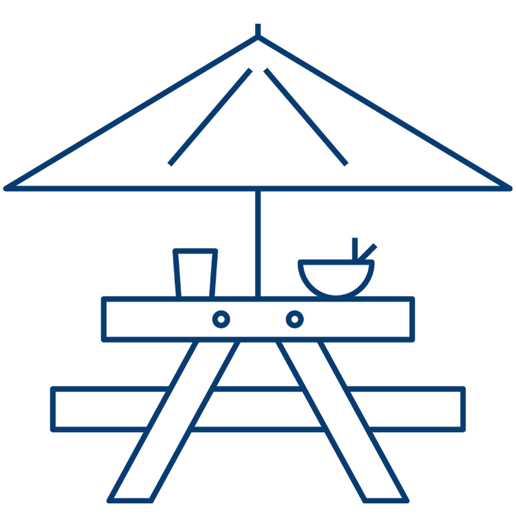 Icon of a camping bench