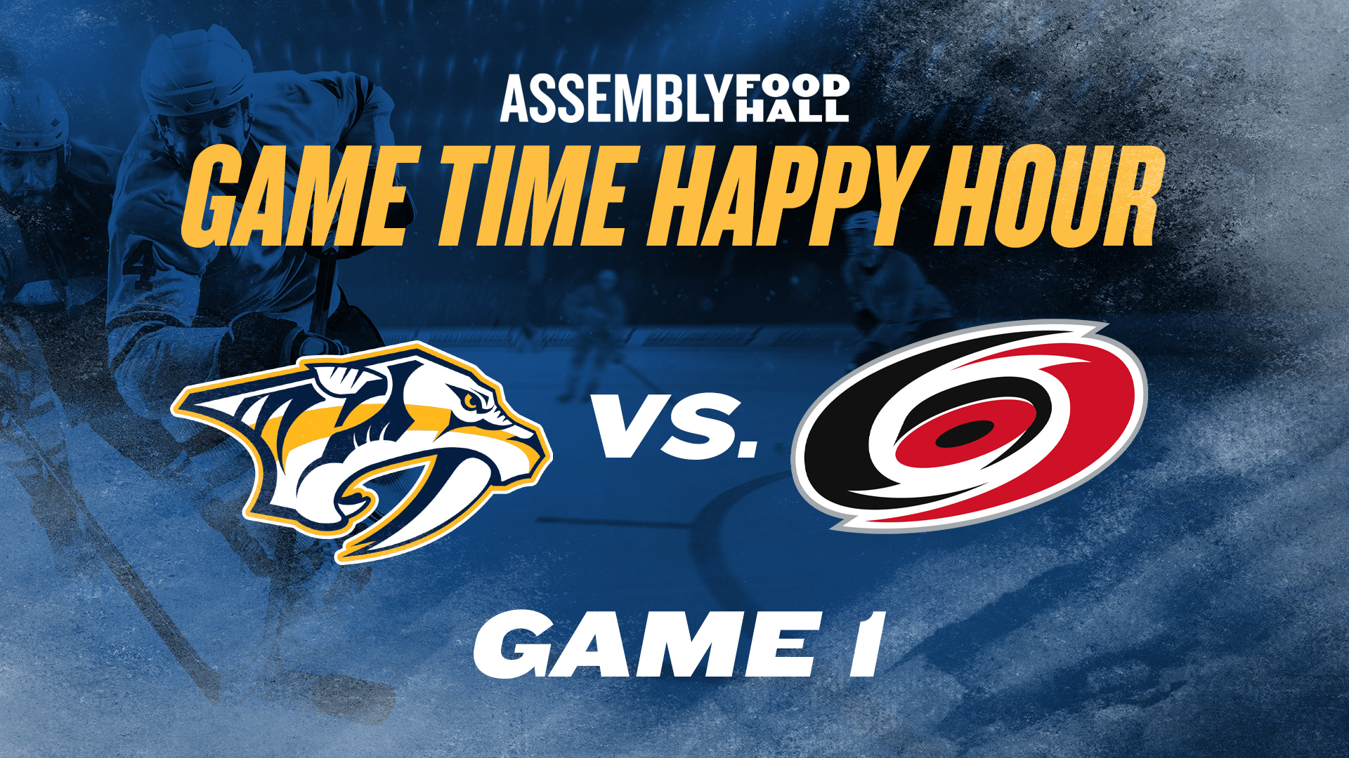 Promo image of Predators v. Hurricanes Game Time Happy Hour | Game 1