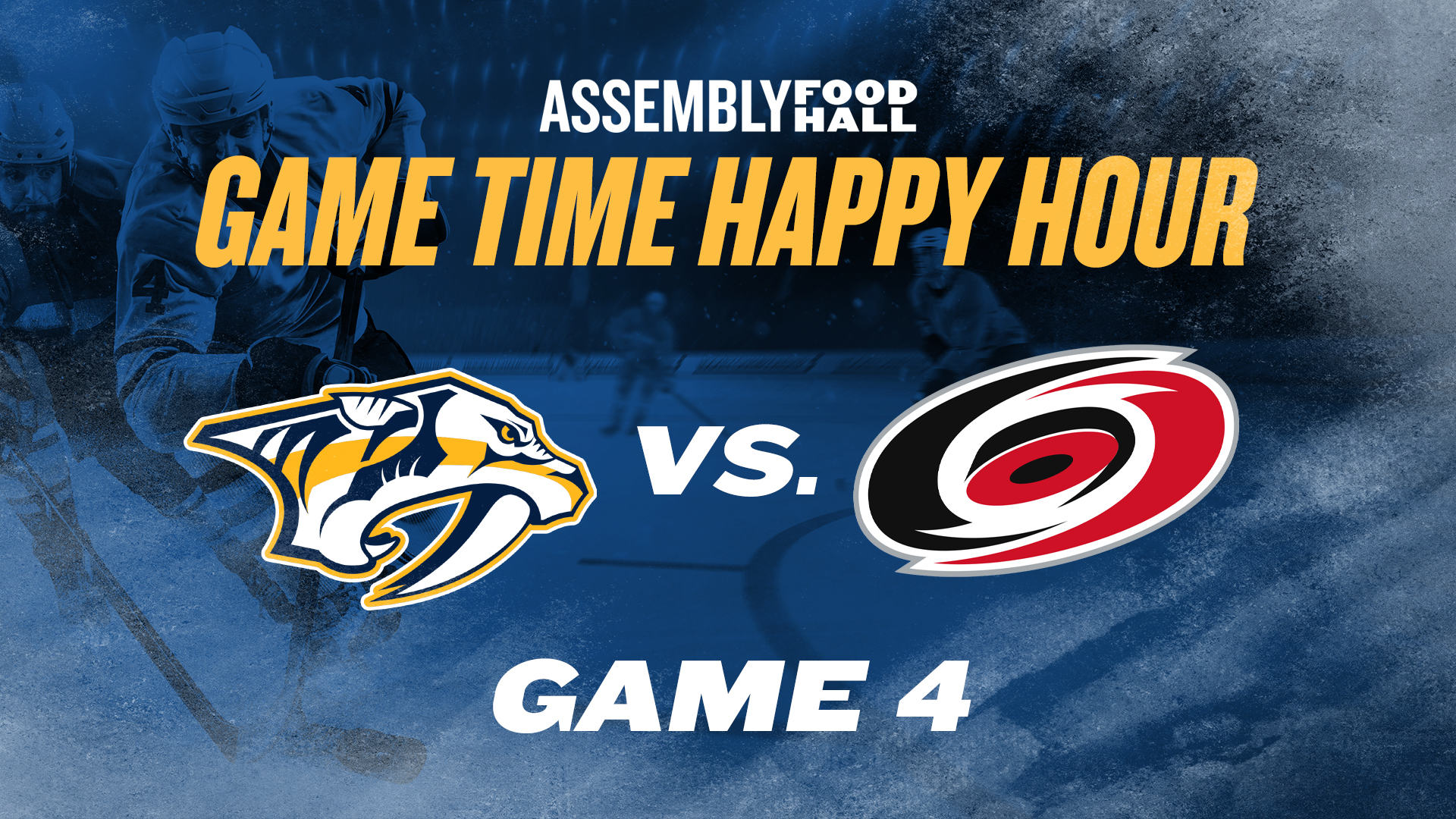 Promo image of Predators v. Hurricanes Game Time Happy Hour | Game 4