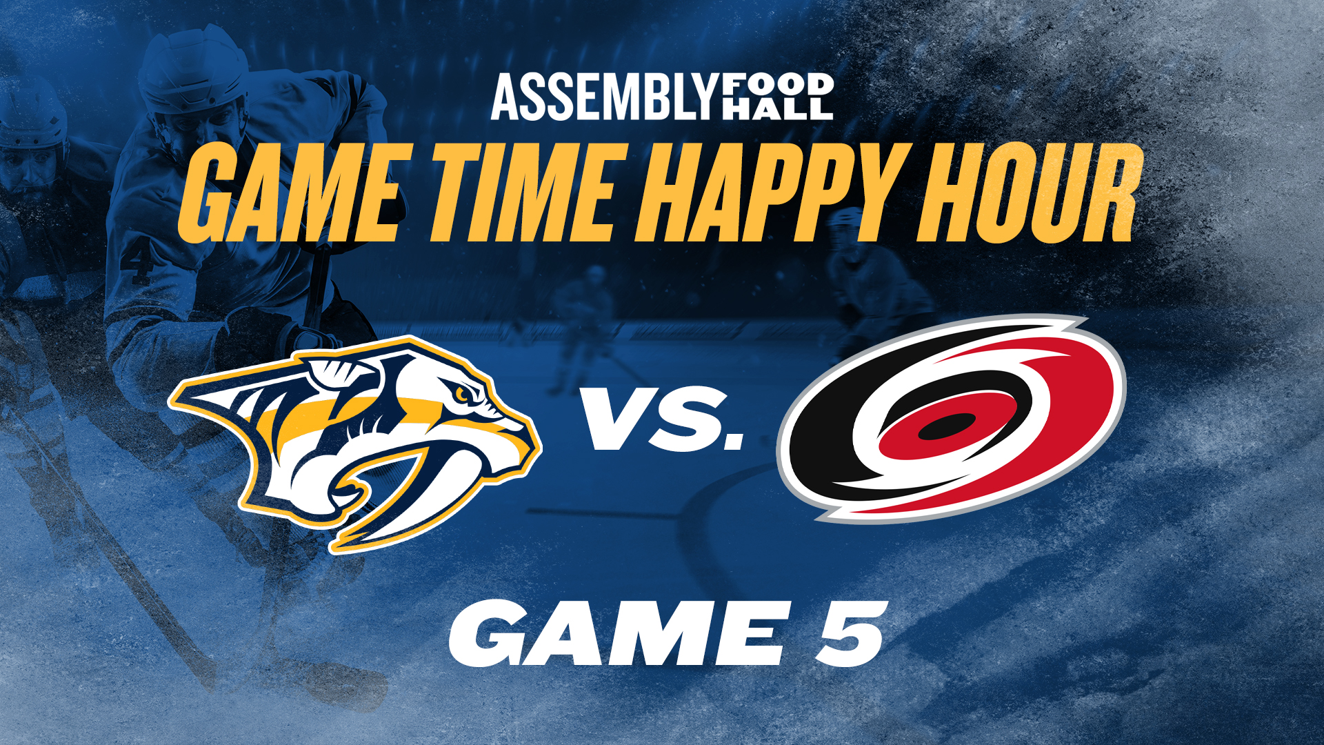 Promo image of Predators v. Hurricanes Game Time Happy Hour | Game 5