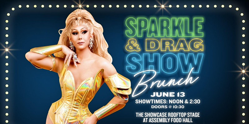 Promo image of Sparkle & Drag Brunch Show hosted by Zac Woodward of Pride Radio