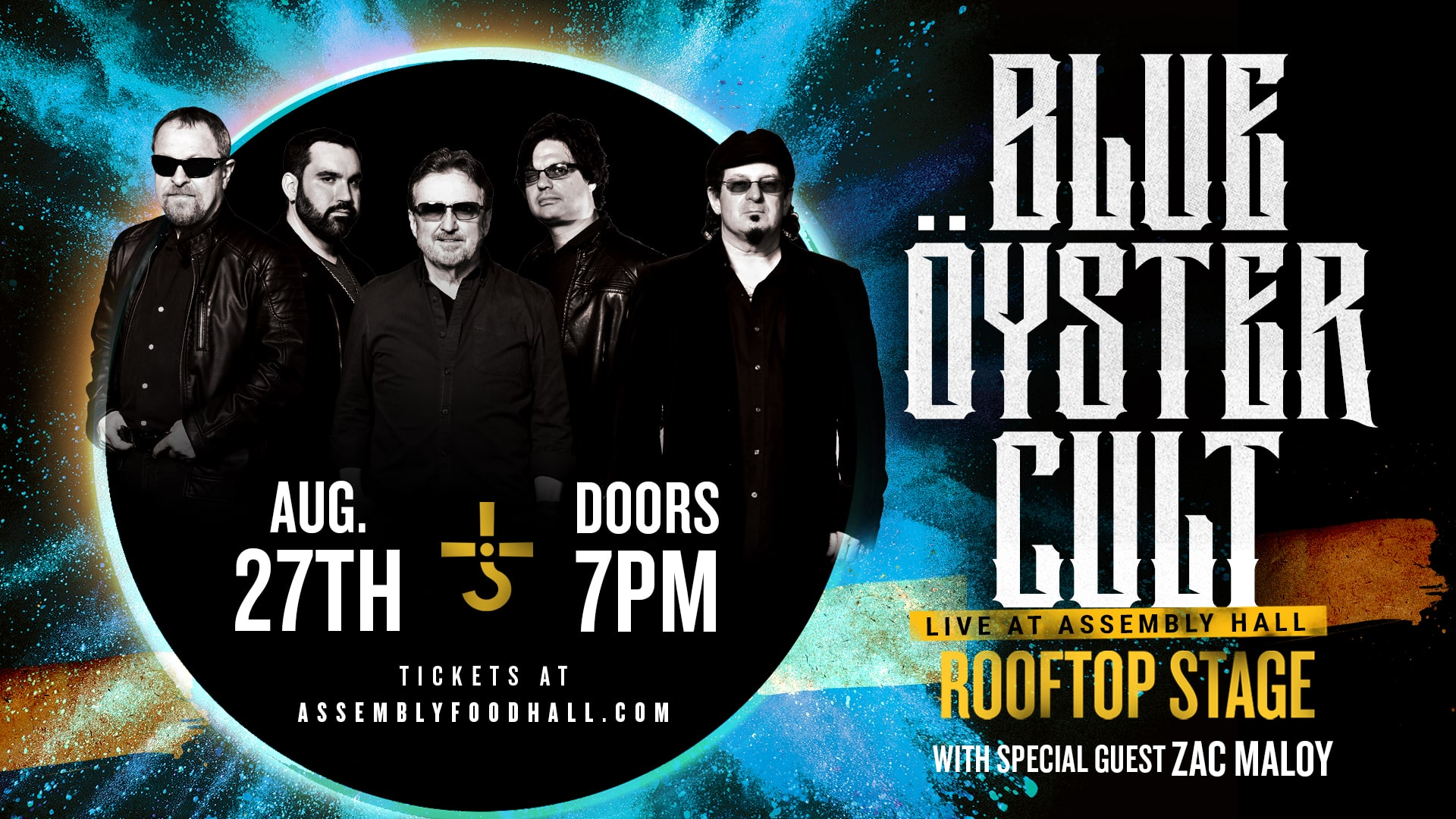 Promo image of Blue Oyster Cult on the Rooftop