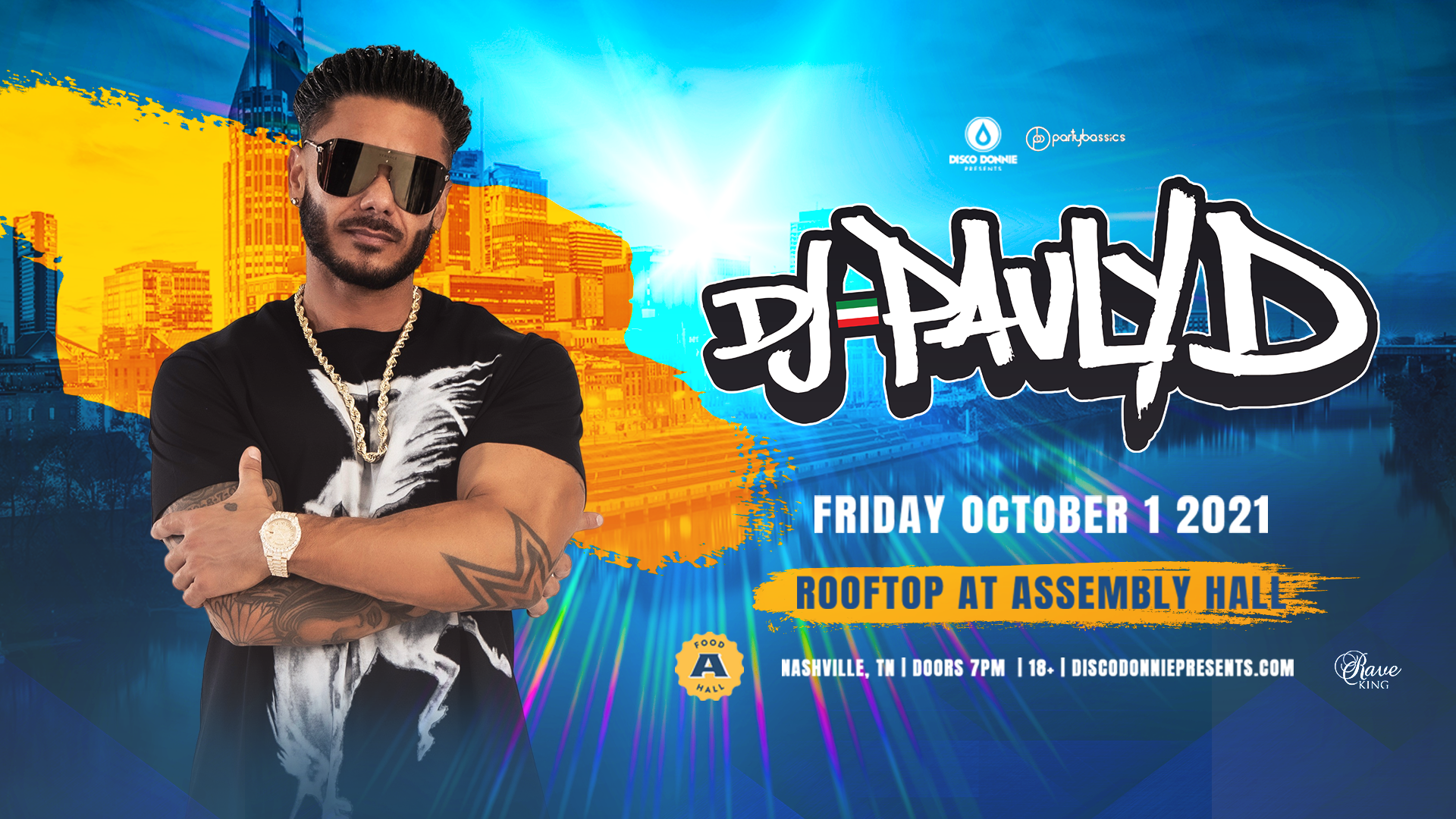 Promo image of DJ Pauly D on the Skydeck