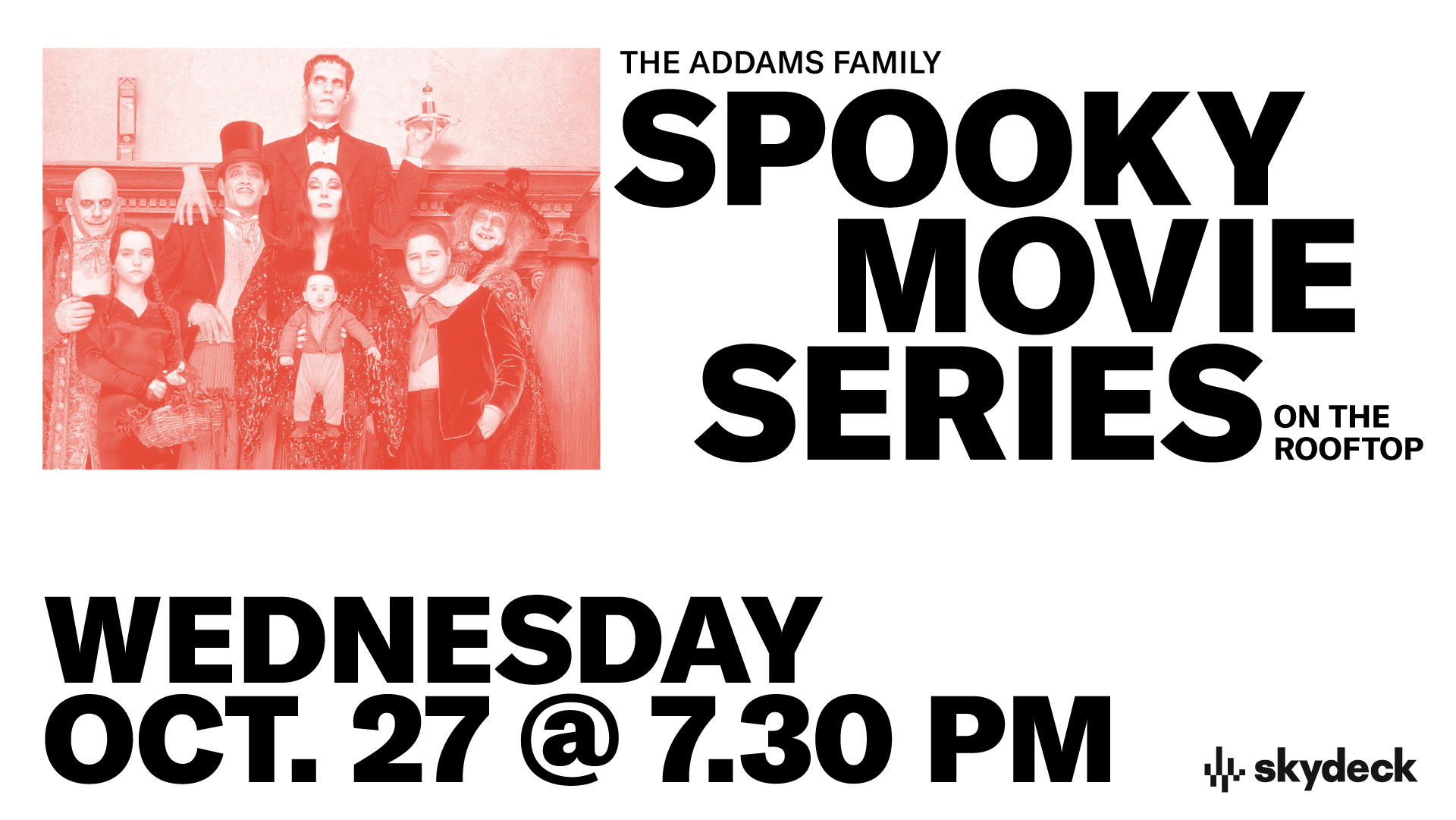 Promo image of The Addams Family on Skydeck