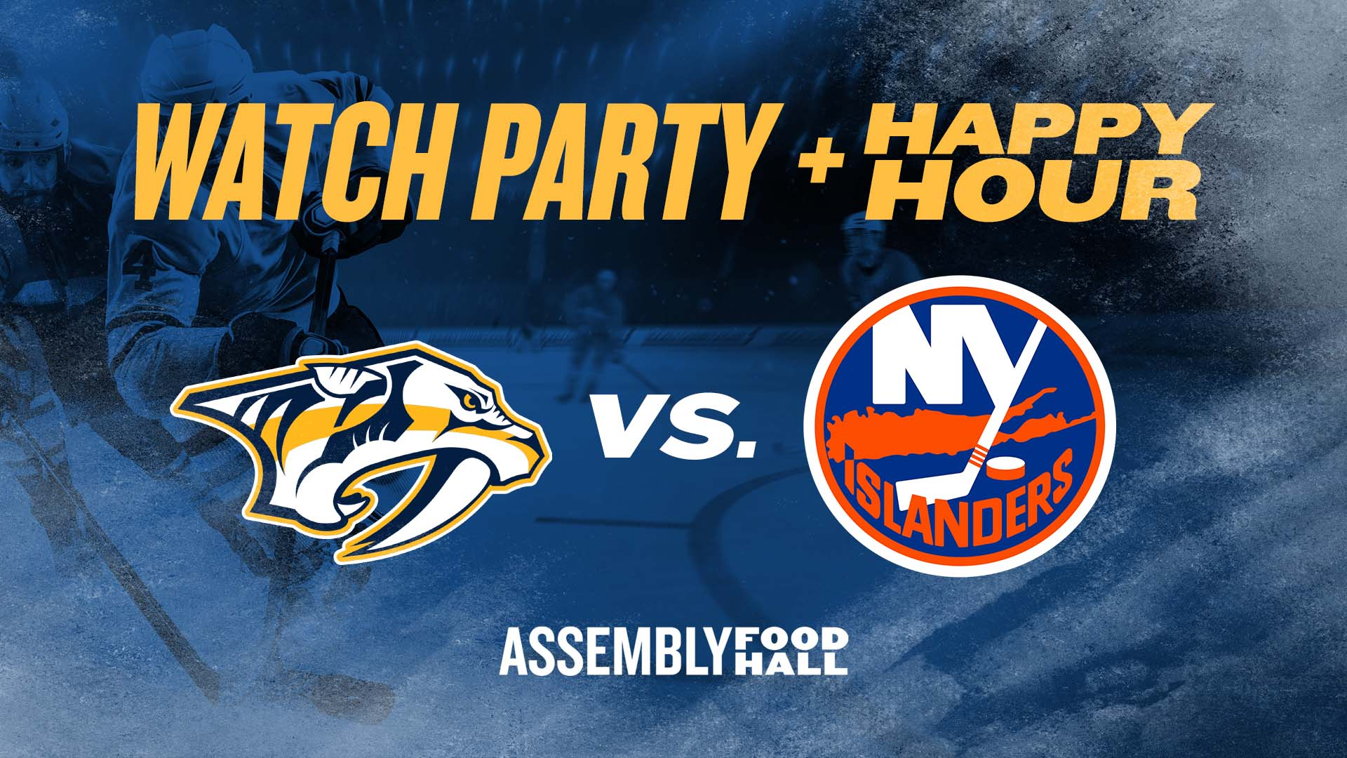 Promo image of Predators vs. New York Islanders | Watch Party & Happy Hour
