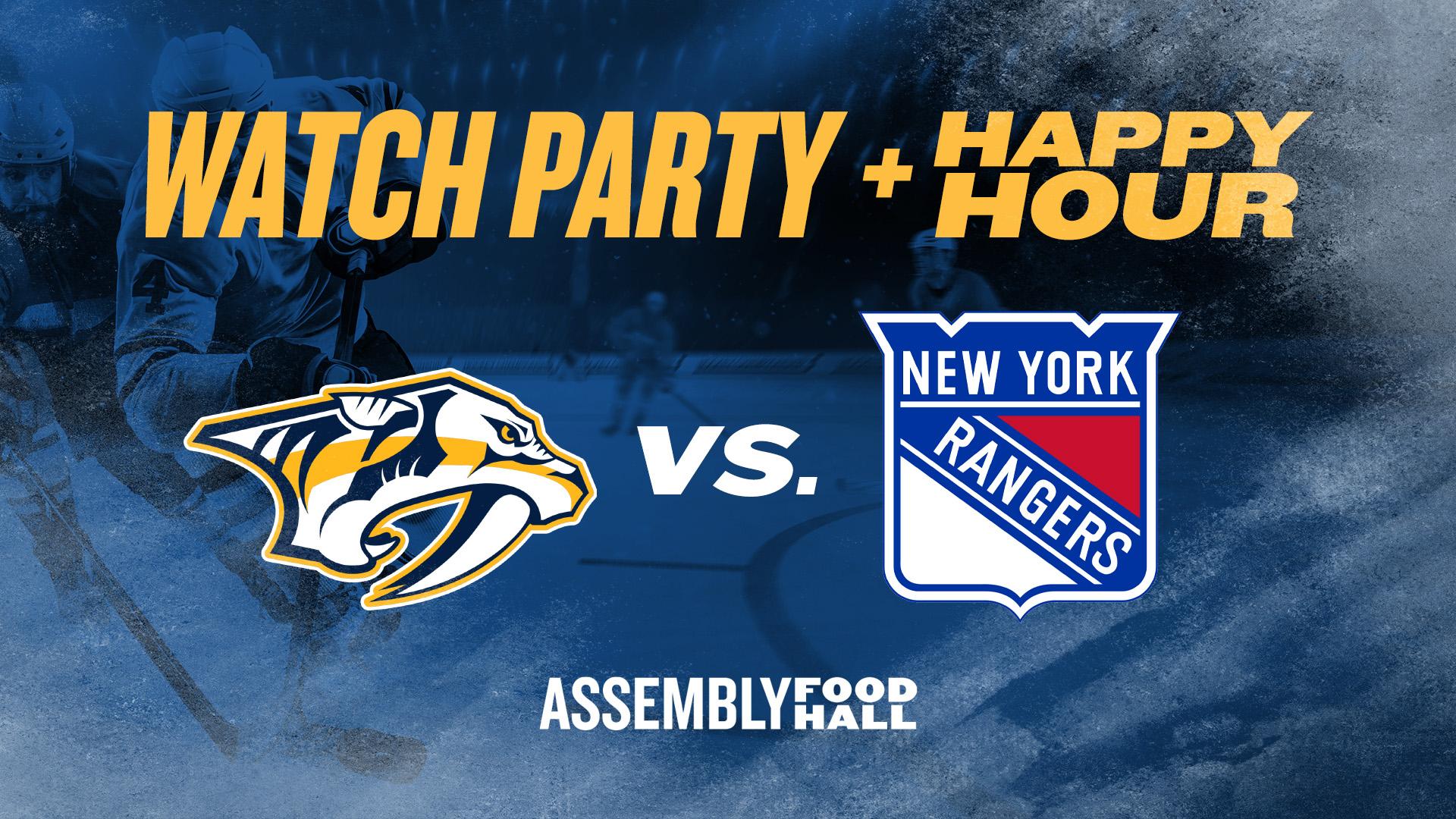 Predators vs. New York Rangers I Watch Party & Happy Hour - hero