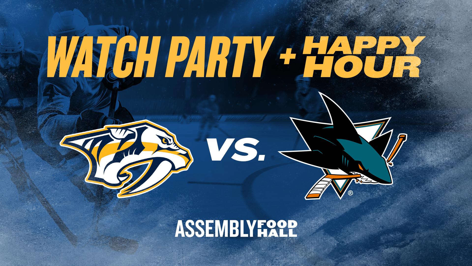 Promo image of Predators vs. San Jose Sharks | Watch Party & Happy Hour